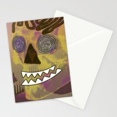 Skull in a Tubular Landscape Stationery Cards