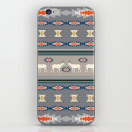 Decorative Christmas pattern with deer iPhone Skin