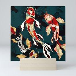 Metallic Koi Mini Art Print
