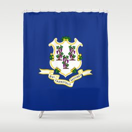 flag Connecticut,america,us,new England,constitution,Connecticuter,Yale,Nutmegger,Hartford Shower Curtain