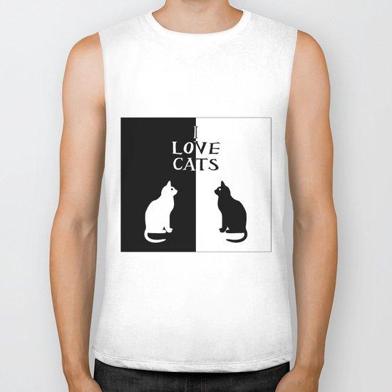 OPPOSITES LOVE: CATS Biker Tank