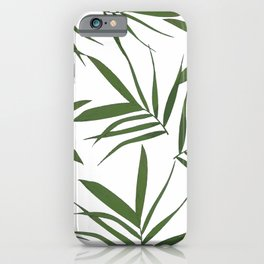 Greenwhite leaves decor iPhone Case