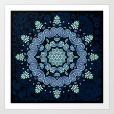 Pastel Paisley Kaleidoscope Art Print