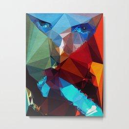 Blue Rocket - Kubistika by Boris Draschoff Metal Print