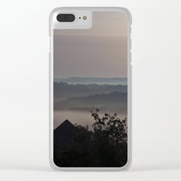 Foggy Summer Morning in France Clear iPhone Case