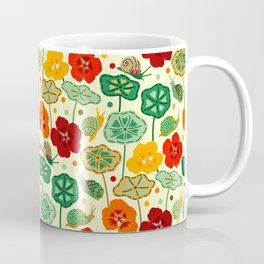 Nasturtiums & Snails Coffee Mug
