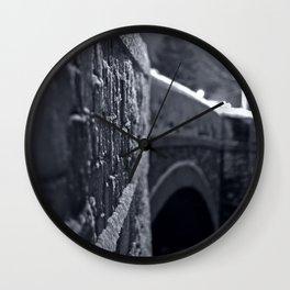 Crossing the Mystic River Wall Clock