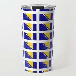 Flag of Bosnia 2 – Bosnian,Bosniak,herzegovinian,bosna,Sarajevo,Balkan,yugoslavia. Travel Mug