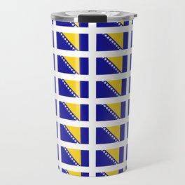 Flag of Bosnia 2 – Bosnian,Bosniak,herzegovinian,bosna,Sarajevo,Balkan,yugoslavia. Travel Mug