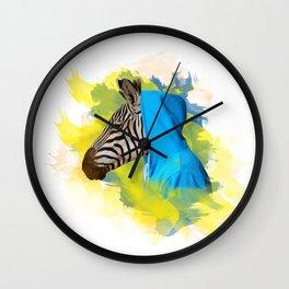 Gangsta Zebra Wall Clock