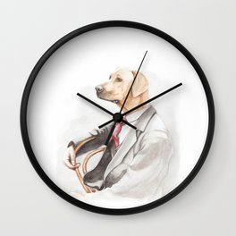 Dog Eat Dog World - Ridgeback Suit Wall Clock