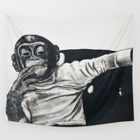 darwin Wall Tapestries featuring Original Gangster by Esau Rodriguez Art