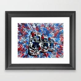 Pabst Blue Ribbon PBART  Framed Art Print