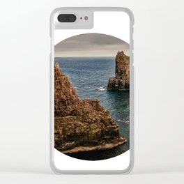 Rocky sea circle photo Clear iPhone Case