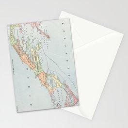 Vintage Map of Bermuda (1901) Stationery Cards