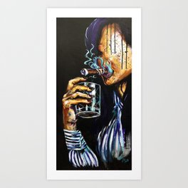 Naturally Bourbon Art Print