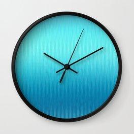 Soft ikat pattern - Blue Wall Clock