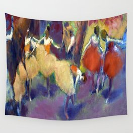 Edgar Degas Before the Performance Wall Tapestry