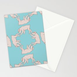 Walking Schnauzer Pattern Vector Stationery Cards