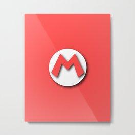 The Emblem of the Plumber, Mario Metal Print