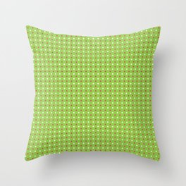 Red And White Polka Dot Christmas Pattern Throw Pillow