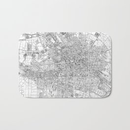 Vintage Map of Berlin Germany (1877) BW Bath Mat