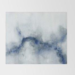 Indigo Abstract Painting | No.3 Throw Blanket