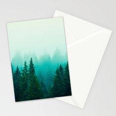 Fog Foggy Forest Woods Mountain Northwest Washington Landscape Stationery Cards
