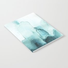 Soft teal abstract watercolor Notebook