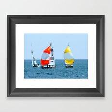 Chicago Sailing Framed Art Print