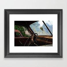 Junkyard Truck. Framed Art Print
