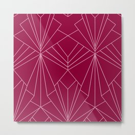 Art Deco in Raspberry Pink - Large Scale Metal Print