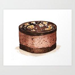 Chocolate Mousse Art Print