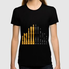 Check Mate / Black / Gold Chess Pieces T-shirt
