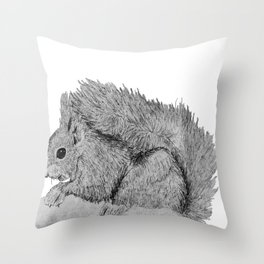 we'll make it through, coz I'm nuts about you! Throw Pillow
