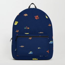 Bright and bold fish aquarium Backpack