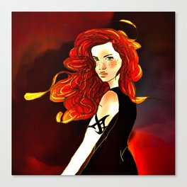 Clary Fray from The Mortal Instruments by Cassandra Clare Canvas Print
