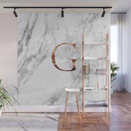 Monogram rose gold marble G Wall Mural