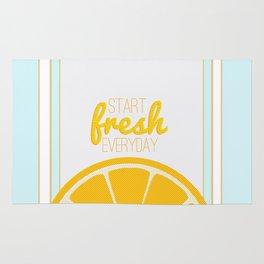 start fresh everyday Rug
