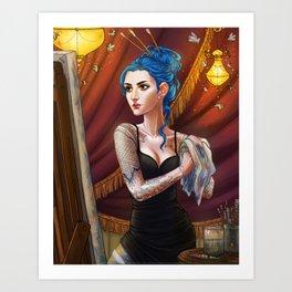 Karou the Artist Art Print