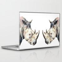 rhino Laptop & iPad Skins featuring RHINO by Anne Hviid Nicolaisen