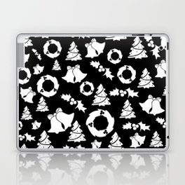 Classic Christmas in Black and White Laptop & iPad Skin