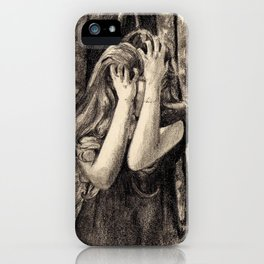 Dismay In Fox Mask iPhone Case