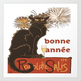 Bonne Annee Happy New Year Parody Art Print