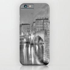 Bonaparte bridge in Lyon, France - hdr b&w iPhone 6s Slim Case
