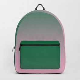 Cadmium Green to Cotton Candy Pink Linear Gradient Backpack