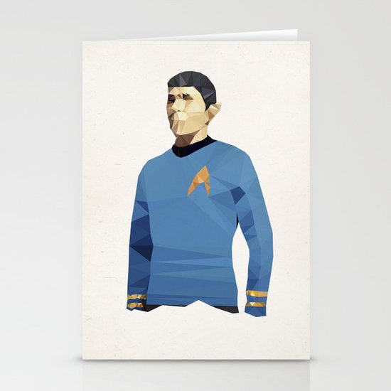Polygon Heroes - Spock Stationery Cards