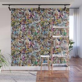 Jojo's Bizarre Adventure - Colored Manga Panel Collage Wall Mural