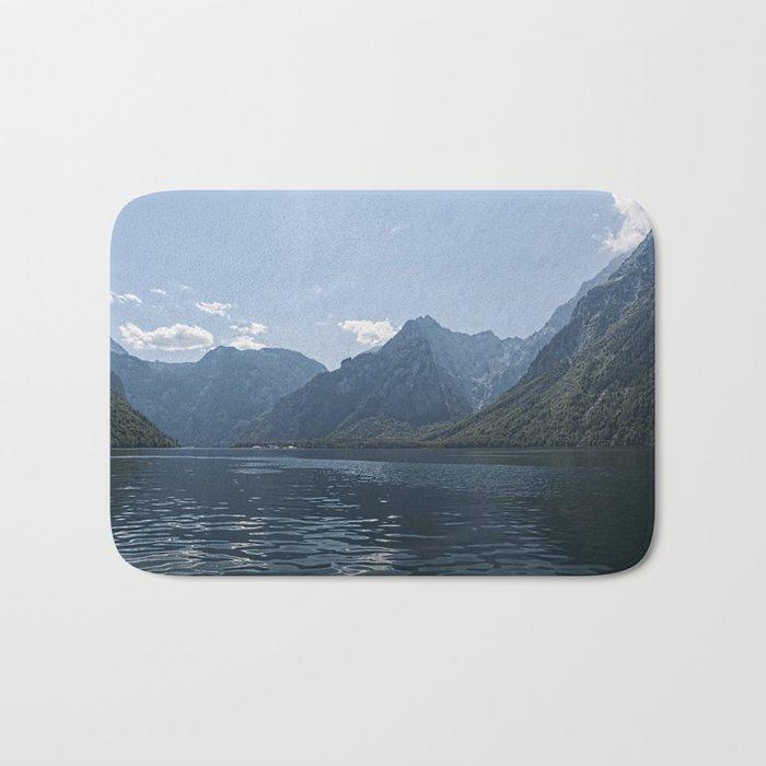 Bavaria - Koenigssee Lake Summer Alps Bath Mat