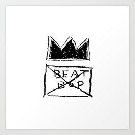 Basquiat Beat Bop Art Print